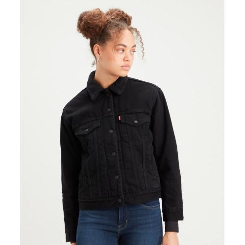 Джинсовая утепленная женская куртка Levi's® Ex-Boyfriend Sherpa Trucker