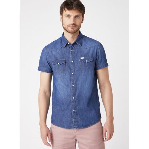 Джинсовая мужская рубашка Wrangler